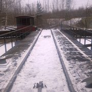 Gut erhaltene, verlassene Gleisanlagen…