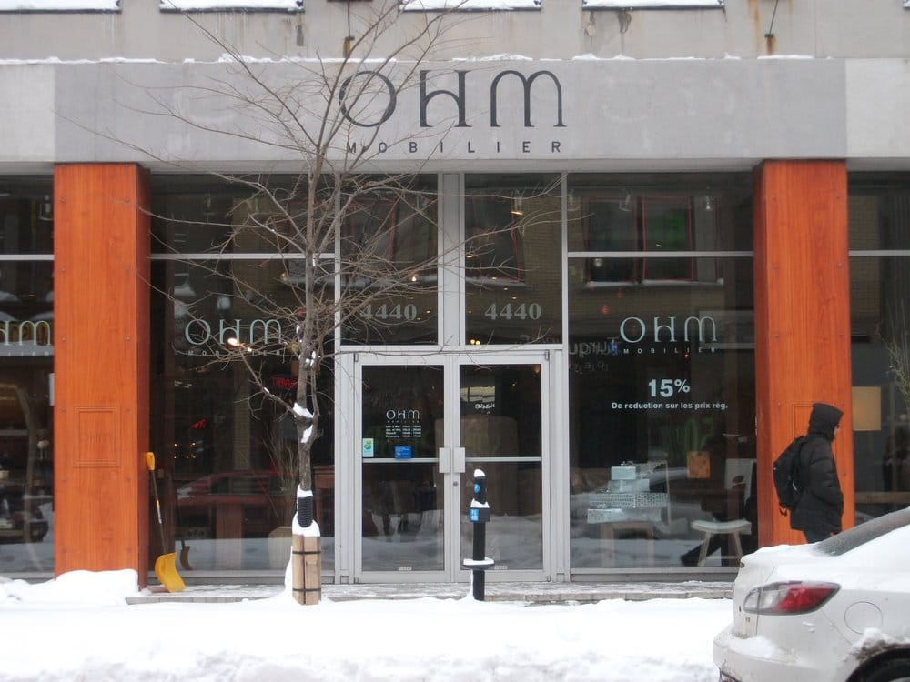 Ohm mobilier magasin de meuble plateau mont royal for Boutique meuble montreal
