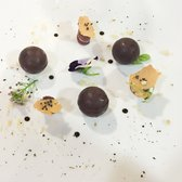 Foie gras filled chocolates