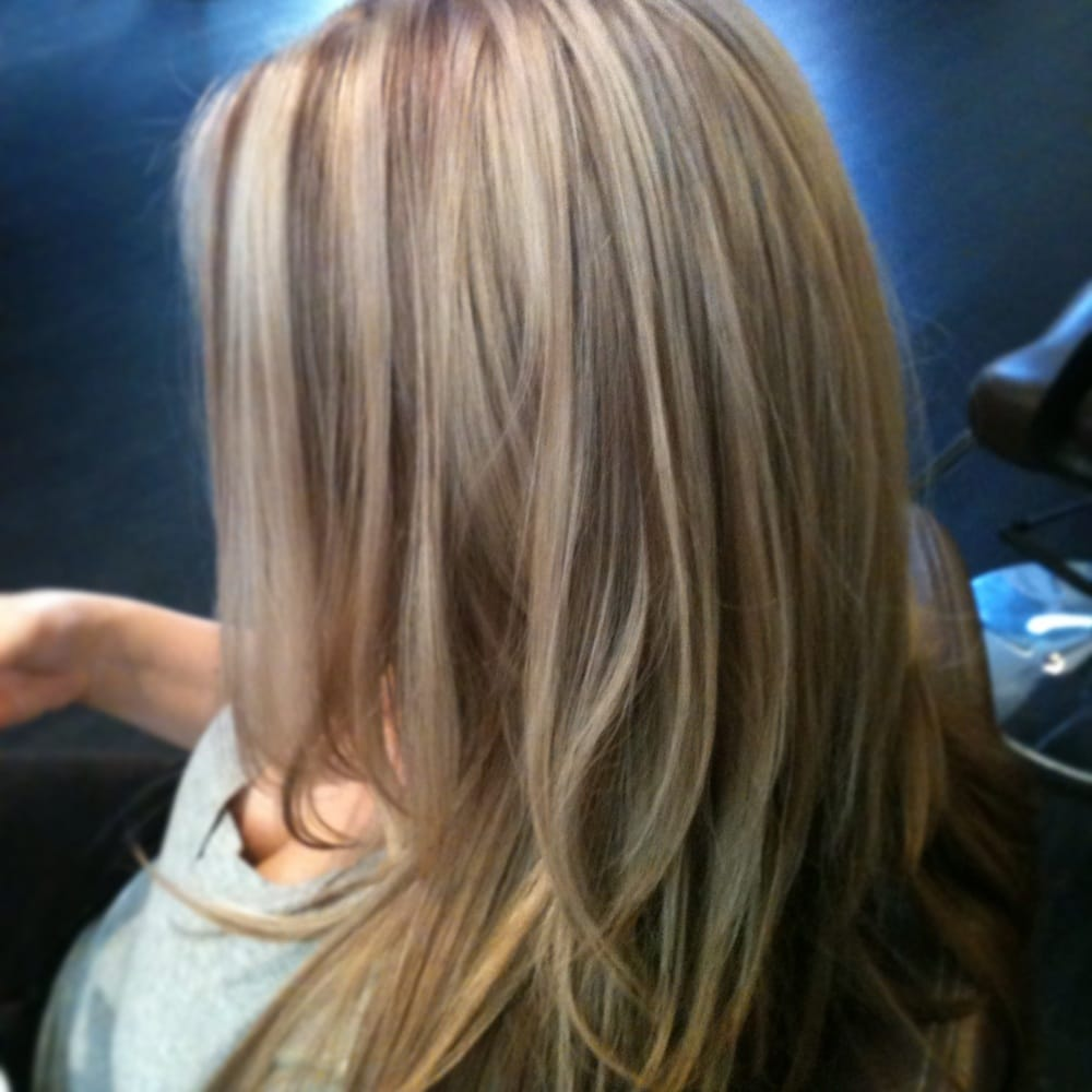 Beige highlights with warm brown lowlights allows for ...
