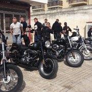 Biker mit Harley Davidson Miet-…