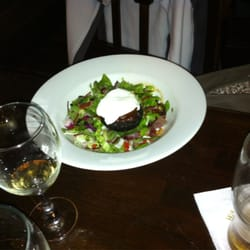 Blood pudding salad. Delicious