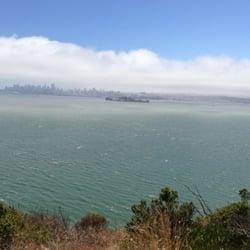 Angel Island State Park - Tiburon, CA, États-Unis. View of Alcatraz
