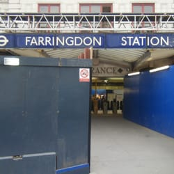 Farringdon entrance, under construction