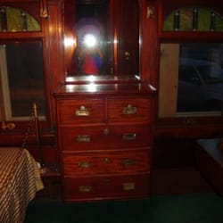 Oregon Short Line - 1903 Rail Car - the bedroom - West Yellowstone, MT, Vereinigte Staaten