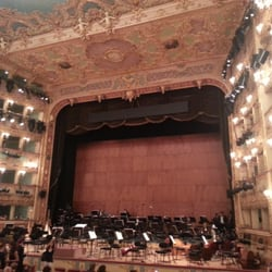 The opulent interior of La Fenice