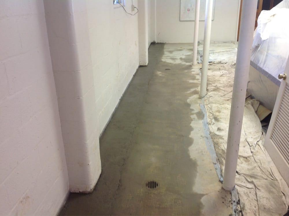 drain tile installation basement anderson basement waterproofing nice