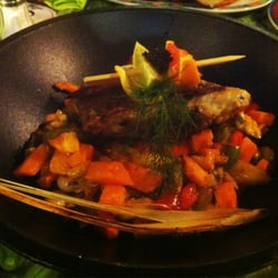 Ceviche auf Wokgemüse