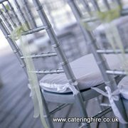 Silver chivari chair hire