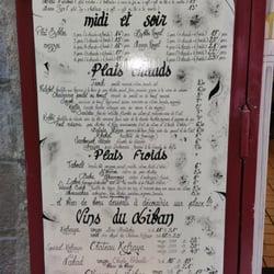 Falafel Byblos - Grenoble, France. Menu du falafel byblos