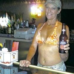 On the beach bikini bar