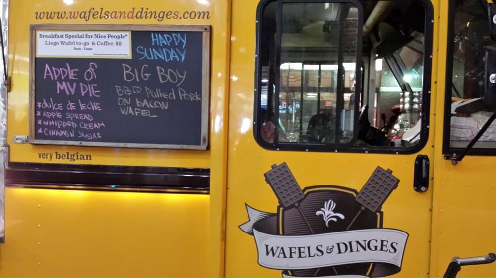 Waffles And Dinges Nyc Waffles And Dinges Food Truck New York ny United States