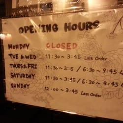Real opening hours