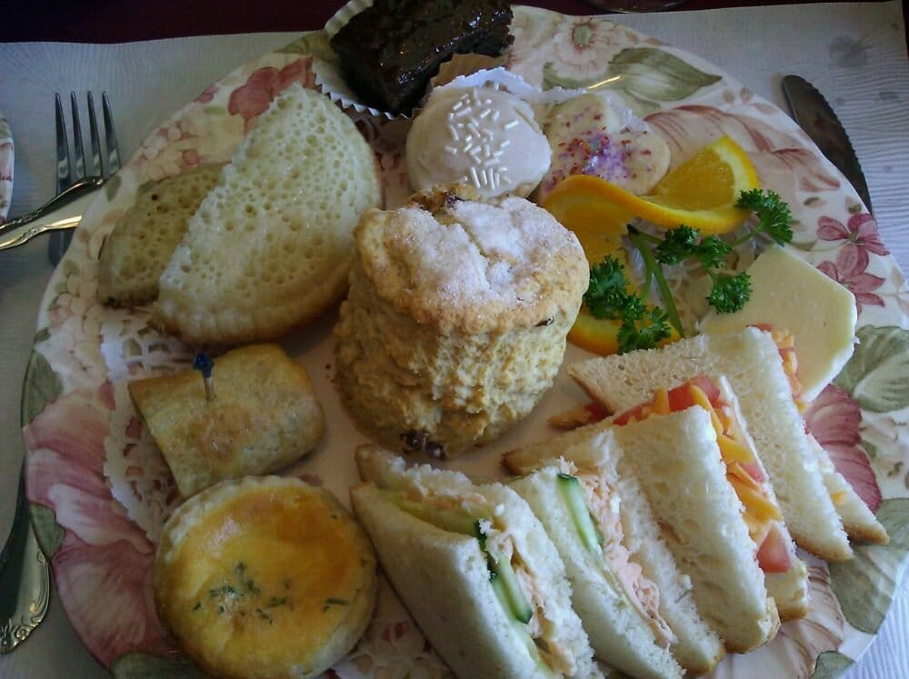 ... , Crumpet, Date & Walnut Scone, Raspberry Tart, Bread Pudding, Cookie
