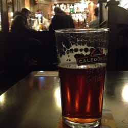 A pint of Finest and a Christmassy bar.
