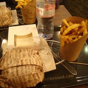 combo meal w/ drink + burger + fries +…