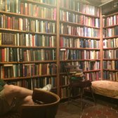The Cave reading room upstairs to the right