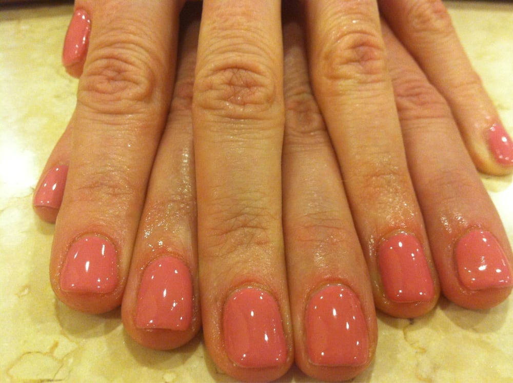Rosebud shellac gel manicure by Kelly | Yelp