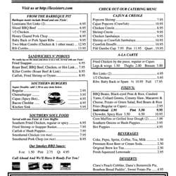 Les kitchen menu