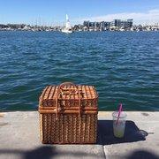 Marina Del Rey Boat Rentals - Marina Del Rey, CA, United States. Picnic basket for the boat ride!