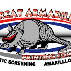 Great armadillo printing company screen printing t shirt for Silk screen shirts near me