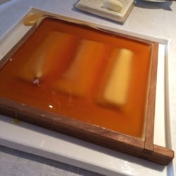 Fish covered in beeswax for 8-10 minutes…