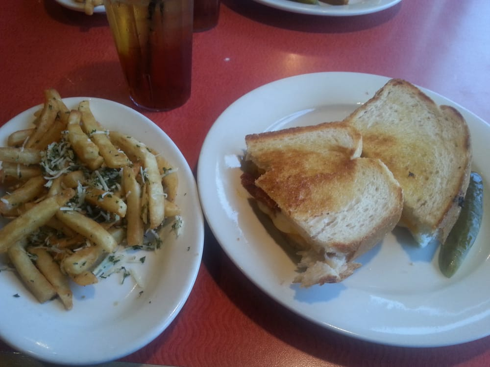 Gourmet grilled cheese and  Gourmet Grilled Cheese And Fries