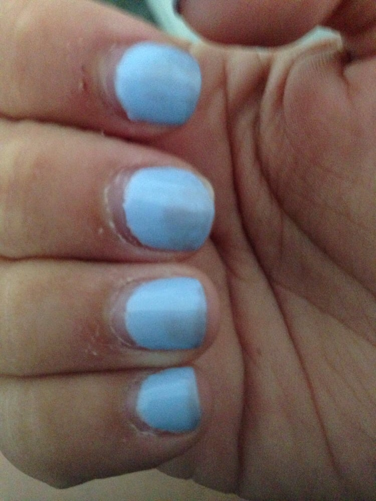 Gel french manicure discoloration