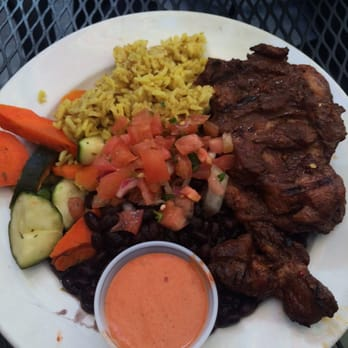 Primo Patio Cafe   San Francisco, CA, United States. Jerk Chicken Platter