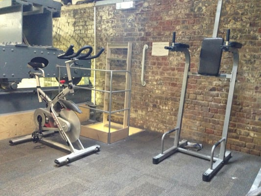 Now with added gym! Small it may be but it has the essentials.