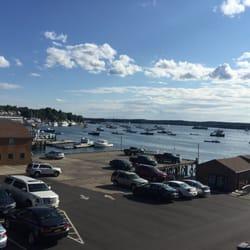 Captain Fish's Motel & Marina - Boothbay Harbor, ME, États-Unis. Uitzicht vanaf de kamer / view from the room