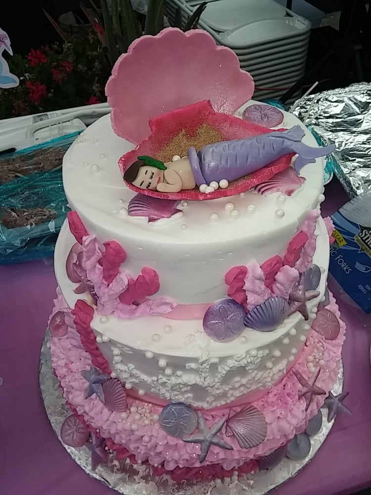 mermaid theme cake for baby shower great work victorias bakery yelp