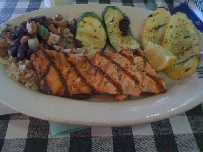 Grilled salmon platter yelp for Flying fish fort worth