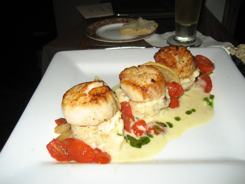 Sea Scallops (Roasted Tomato Ragout, Wild Mushroom Stone Ground Grits ...