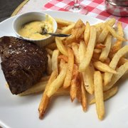 Le Petit Vendôme - Paris, France. The most amazing steak and the frites are legit.