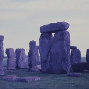 Stonehenge under piss-poor light