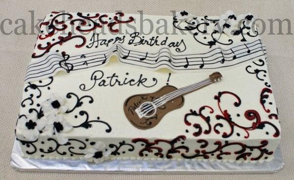 Cake Decorating Englewood Co : Guitar Birthday Sheet Cake Yelp