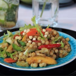Cous Cous with Roasted Vegetables in a…
