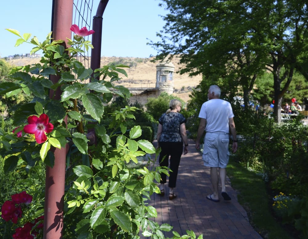 The Guard Tower Of The Old Idaho State Penitentiary Framed By Flowers In The Garden Yelp