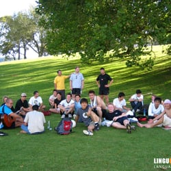 Picknick mit den Klassenkameraden