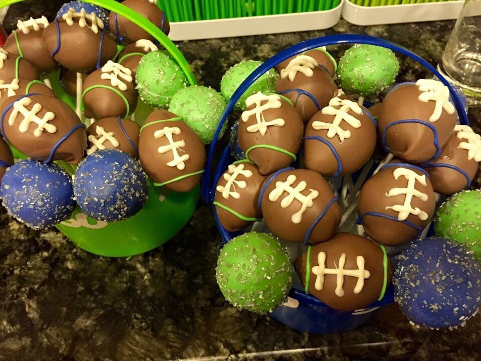 Seahawks Cake Pops Football Cake Pops