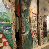 Pieces of the Berlin Wall that came down in 1989.