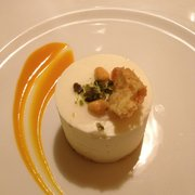 Remarkable desert. Apricot jam. White…