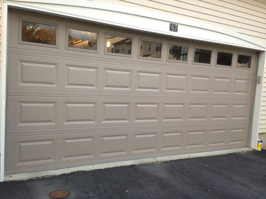 Chi 2283 16 39 0x7 39 0 sandstone in color short panel for 16 x 21 garage door panels
