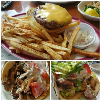 ... States. Cheeseburger deluxe, pork gyro and chicken/pork souvlaki