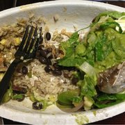 Chipotle Mexican Grill - Glendale, CA, États-Unis. Disgusting Glove in the food