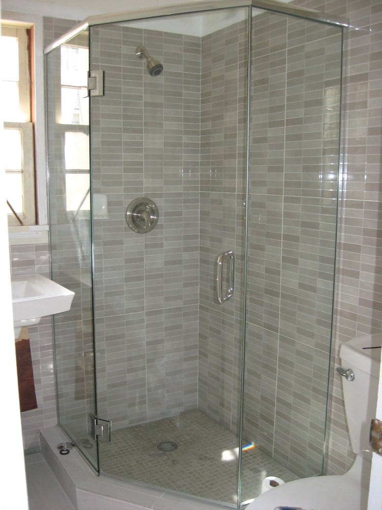 90 degree neo angle shower from Glass Doctor - Montebello. Tile ...