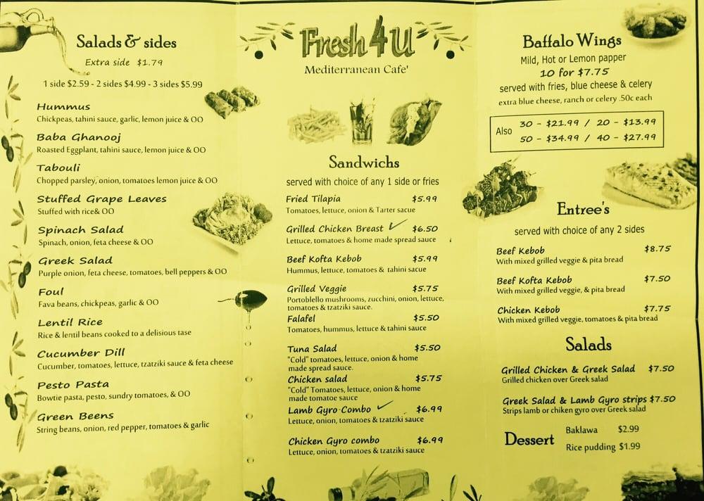 fresh 4 u mediterranean cafe - buckhead - atlanta  ga
