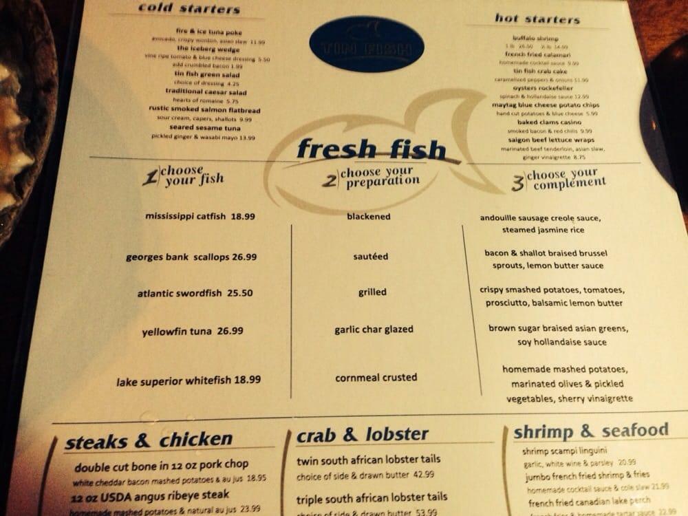 Tin fish 89 photos seafood 18201 harlem ave tinley for Two fish menu