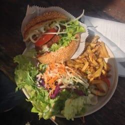 Blumenkohlkäse-Burger mit selfmade…